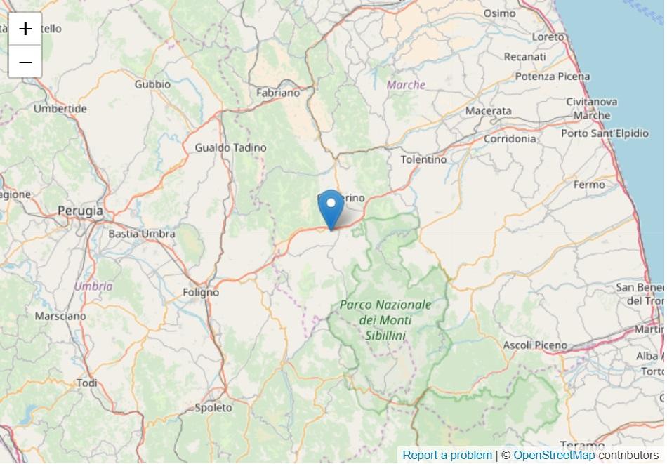 Forte terremoto nelle Marche