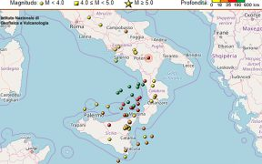terremoto in tempo reale