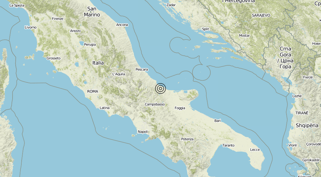 Terremoto Molise 06-09-2019