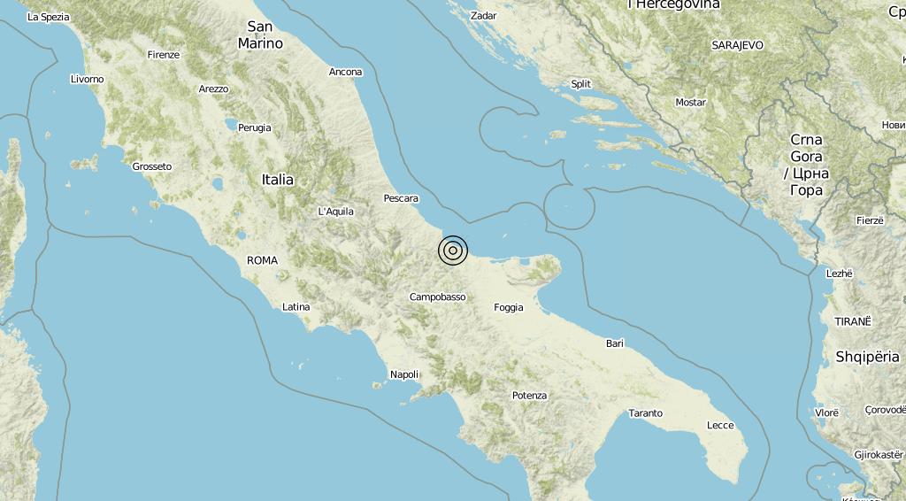 Terremoto Molise 11-09-2019