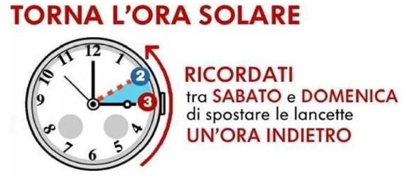 ora solare 2019