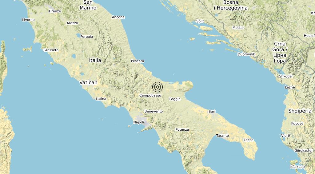 Terremoto Molise 16-11-2019
