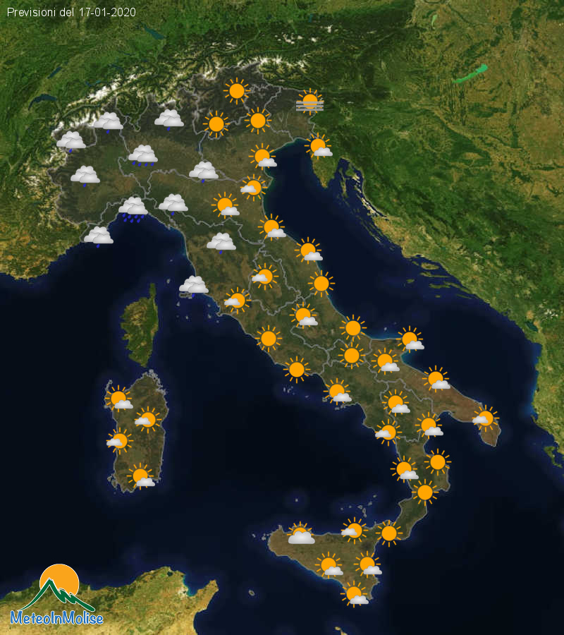 Previsioni Meteo Italia 16-01-2020