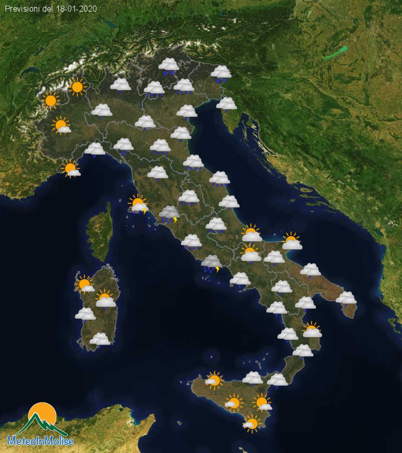 Previsioni Meteo Italia 17-01-2020