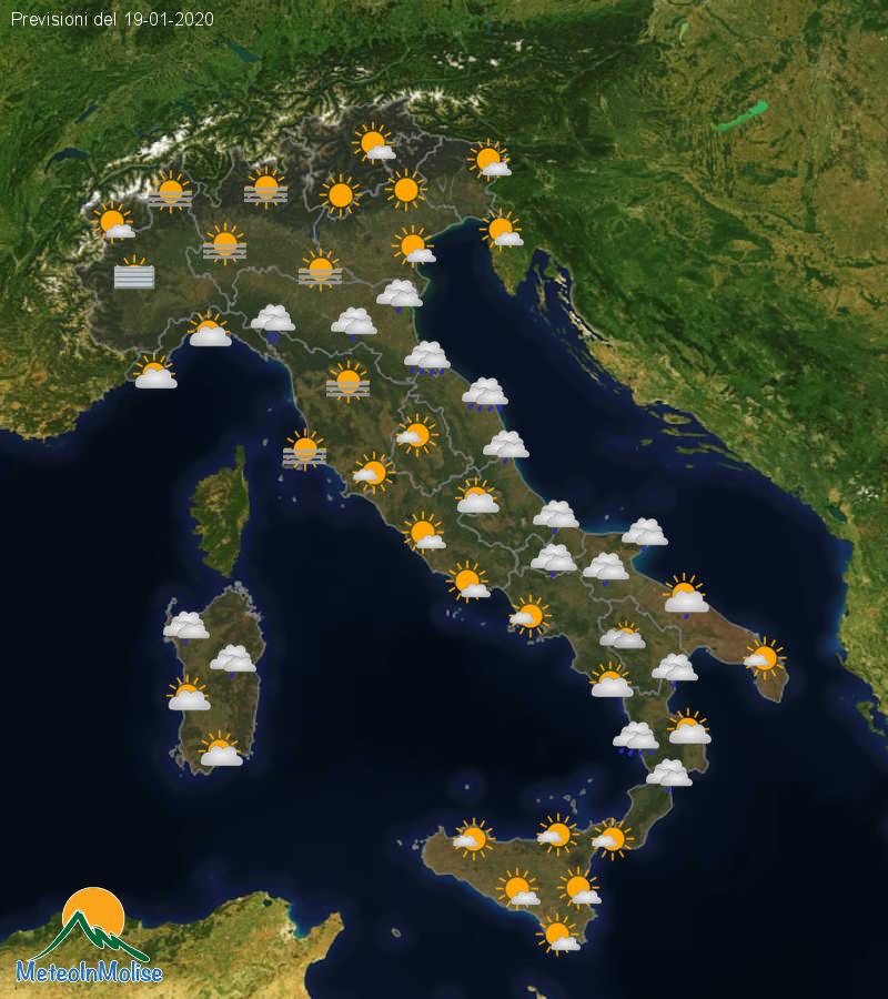 Previsioni Meteo Italia 18-01-2020