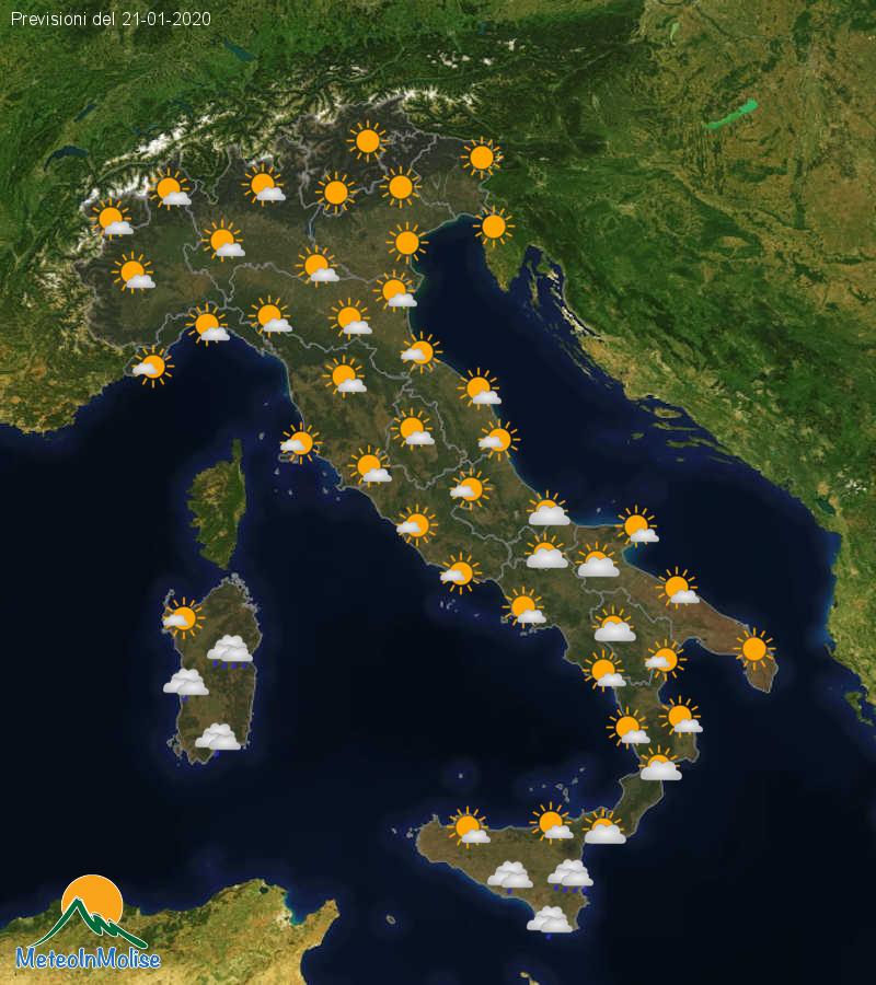 Previsioni Meteo Italia 20-01-2020