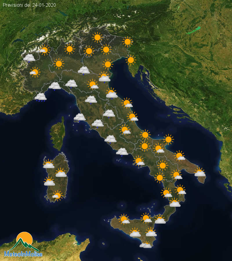Previsioni Meteo Italia 23-01-2020