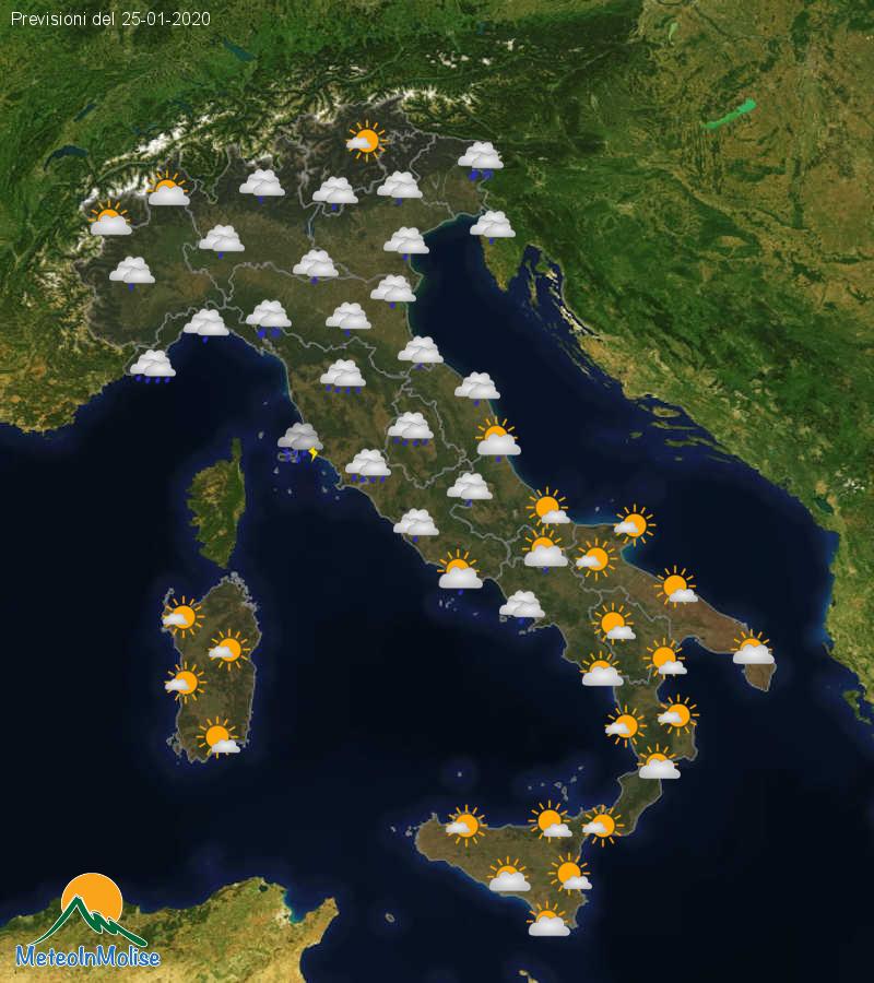 Previsioni Meteo Italia 24-01-2020