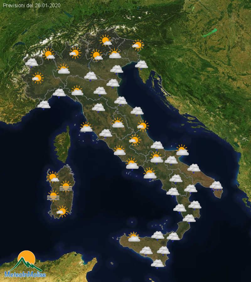 Previsioni Meteo Italia 25-01-2020