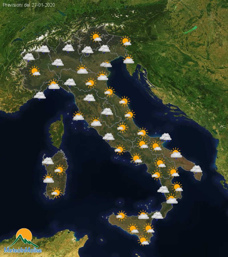 Previsioni Meteo Italia 26-01-2020