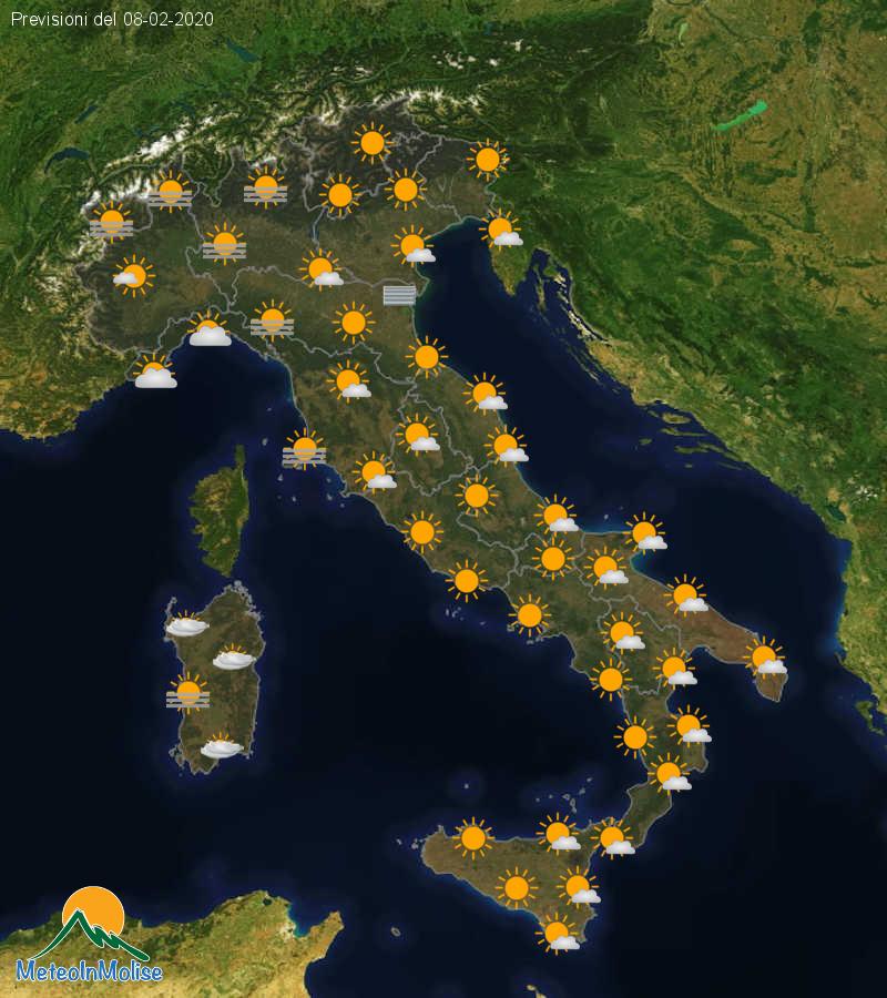 Previsioni Meteo Italia 07-02-2020
