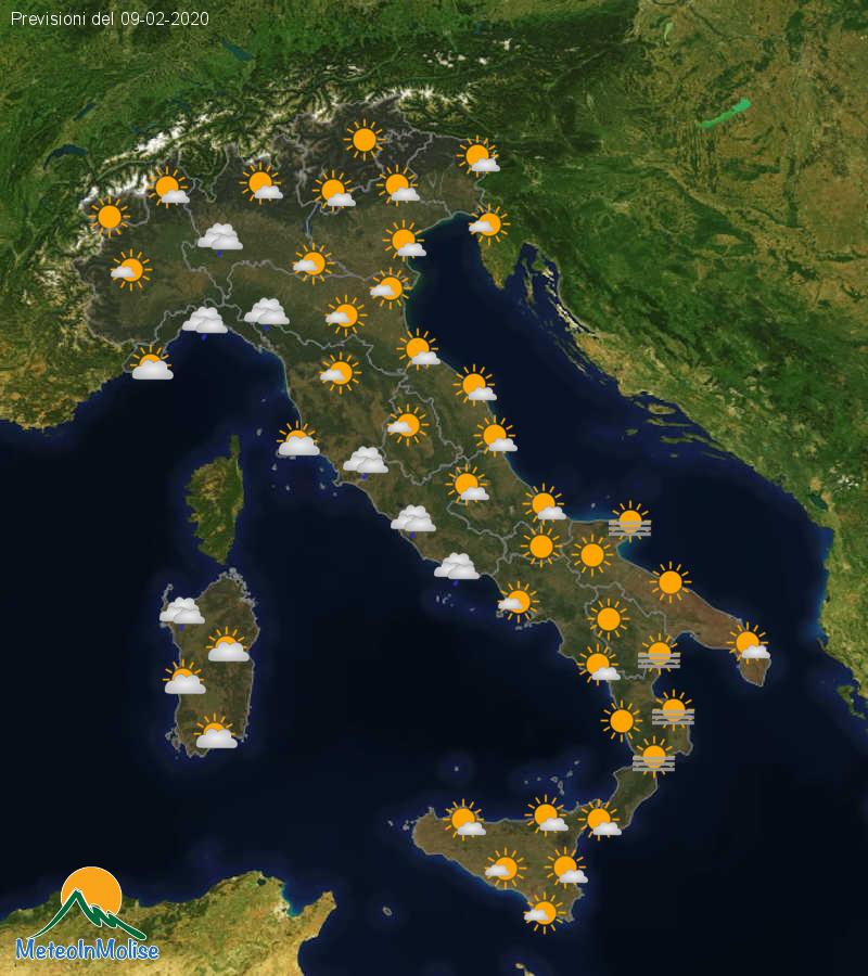 Previsioni Meteo Italia 08-02-2020