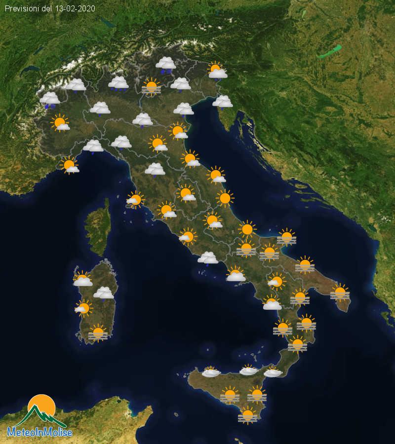 Previsioni Meteo Italia 12-02-2020