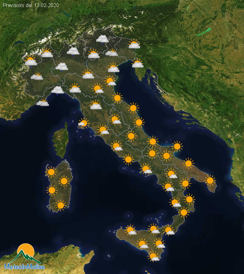 Previsioni Meteo Italia 16-02-2020