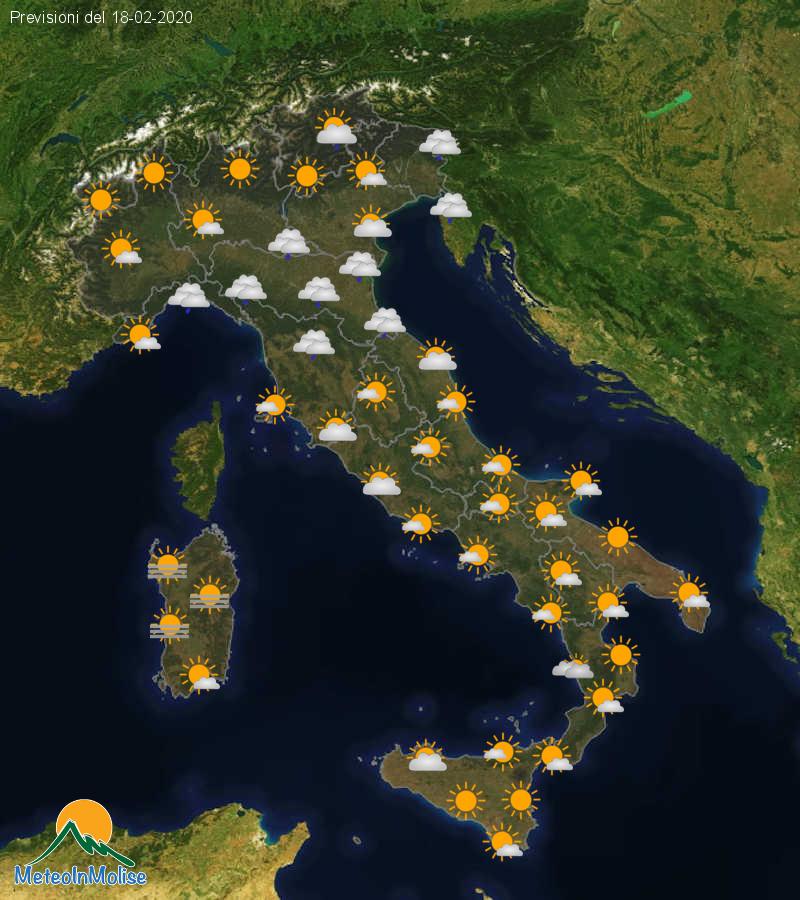 Previsioni Meteo Italia 17-02-2020