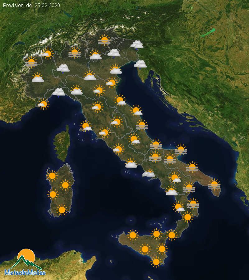 Previsioni Meteo Italia 24-02-2020