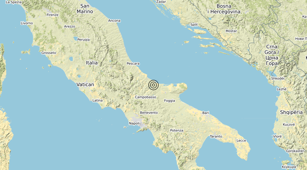 Terremoto Molise 11-02-2020