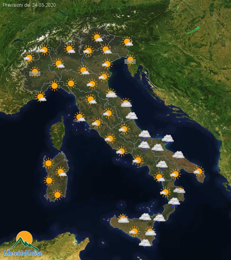 Previsioni Meteo Italia 23-03-2020
