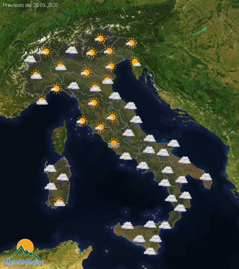 Previsioni Meteo Italia 24-03-2020