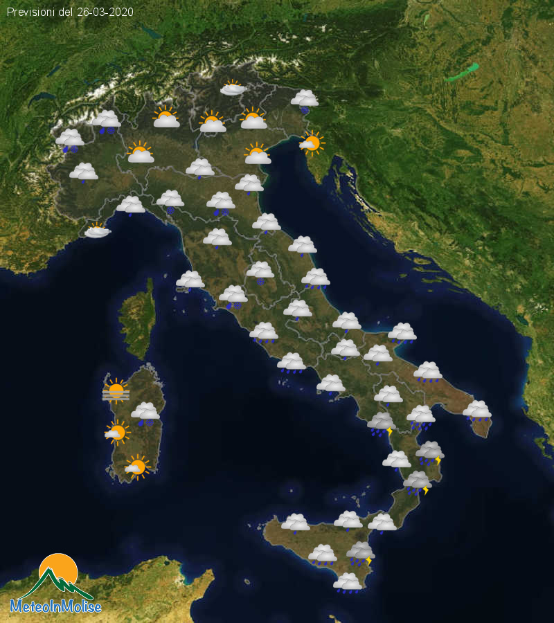Previsioni Meteo Italia 25-03-2020