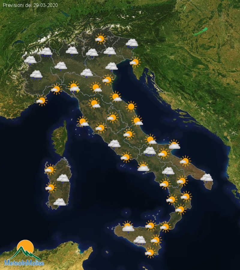 Previsioni Meteo Italia 28-03-2020