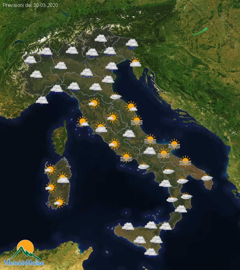 Previsioni Meteo Italia 29-03-2020