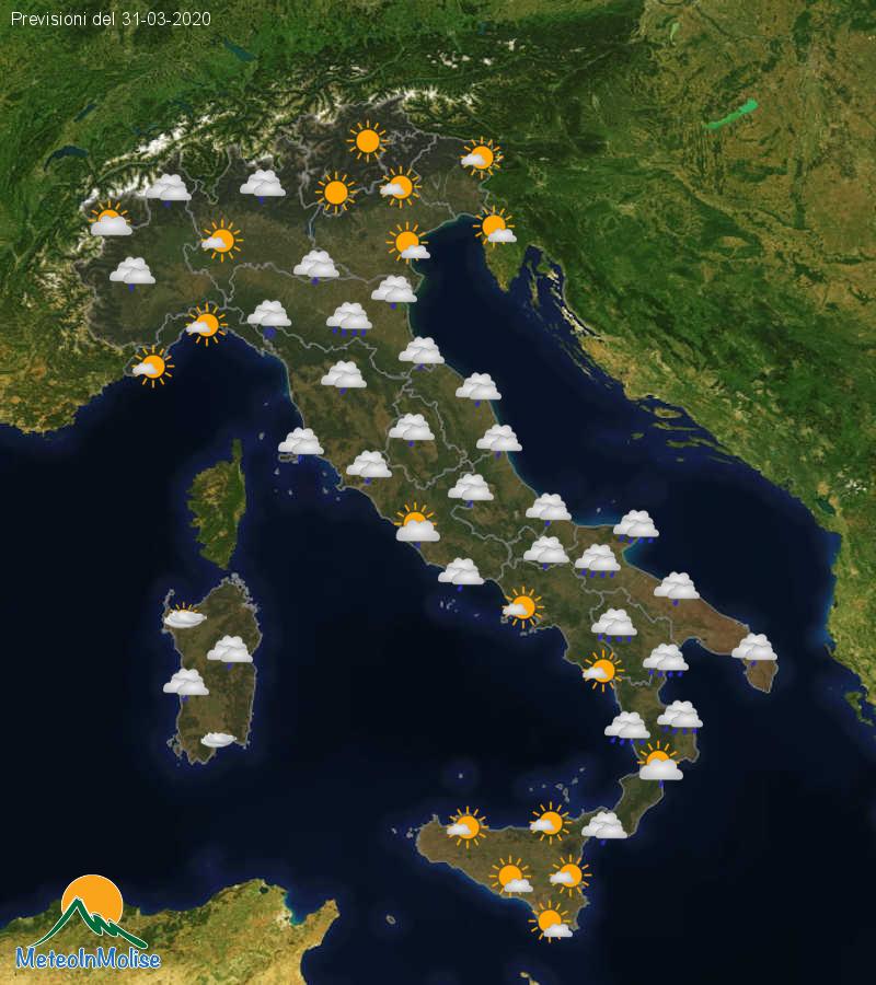 Previsioni Meteo Italia 30-03-2020