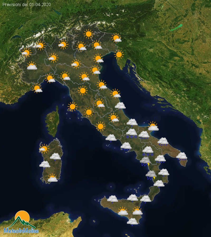 Previsioni Meteo Italia 31-03-2020