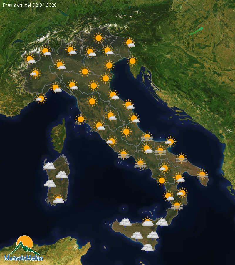 Previsioni Meteo Italia 01-04-2020