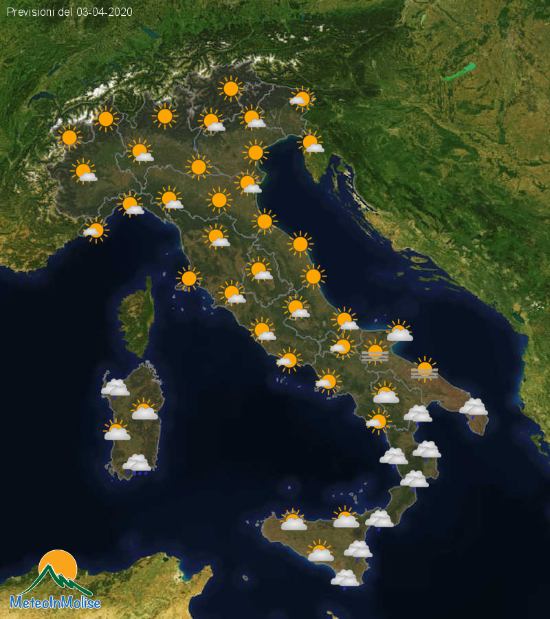 Previsioni Meteo Italia 02-04-2020