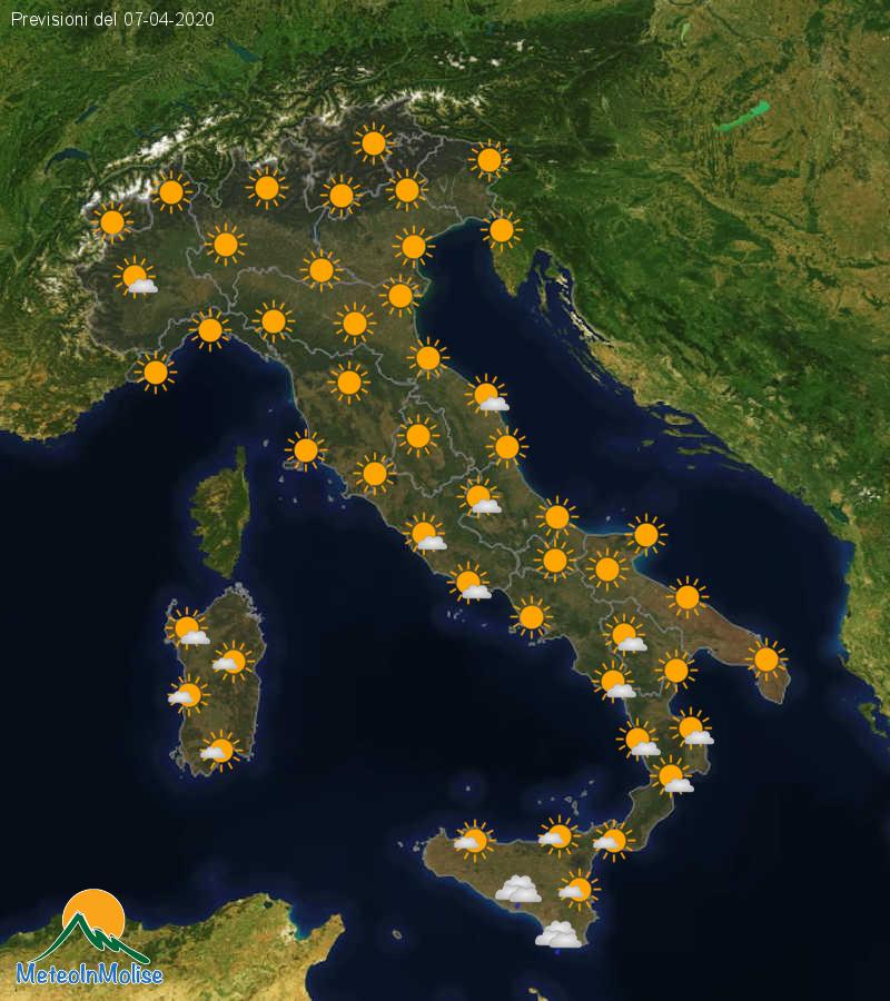 Previsioni Meteo Italia 06-04-2020