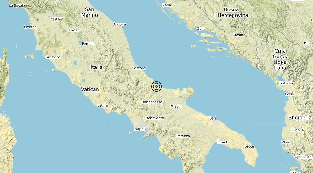 Terremoto Molise 05-04-2020