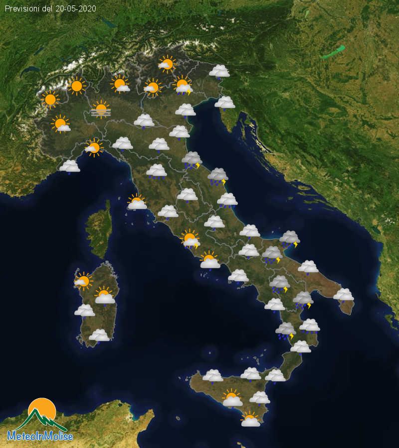Previsioni Meteo Italia 19-05-2020