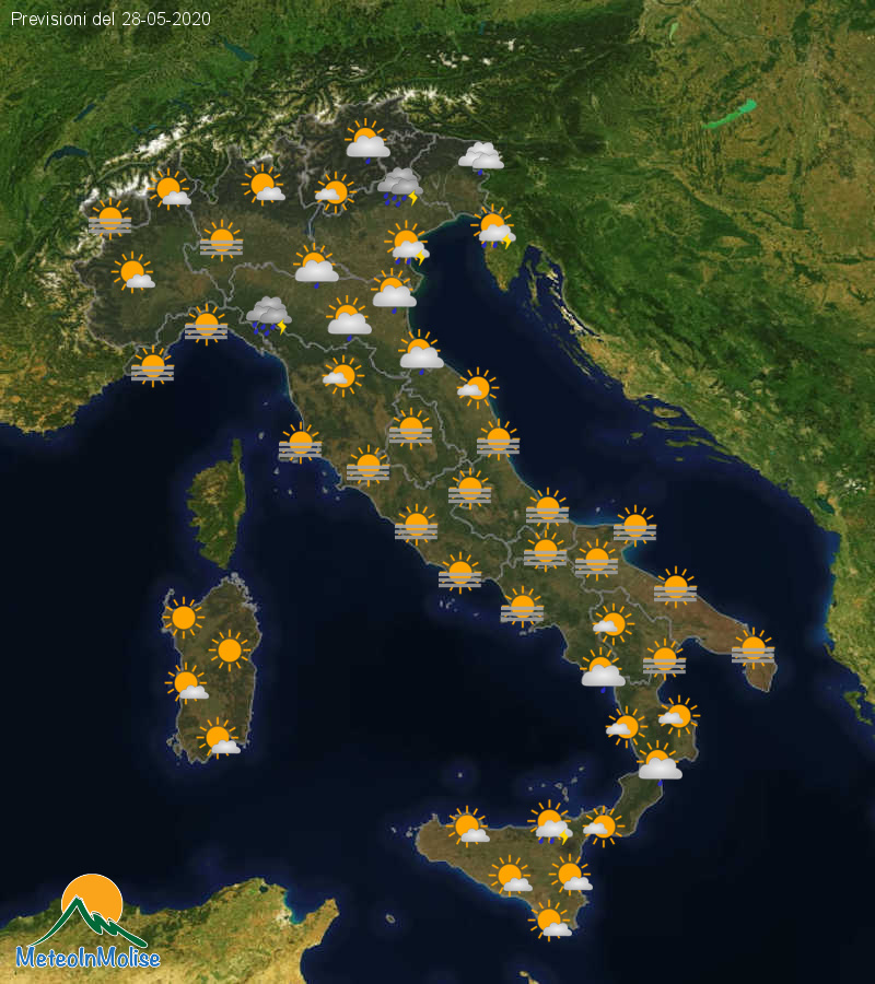 Previsioni Meteo Italia 27-05-2020