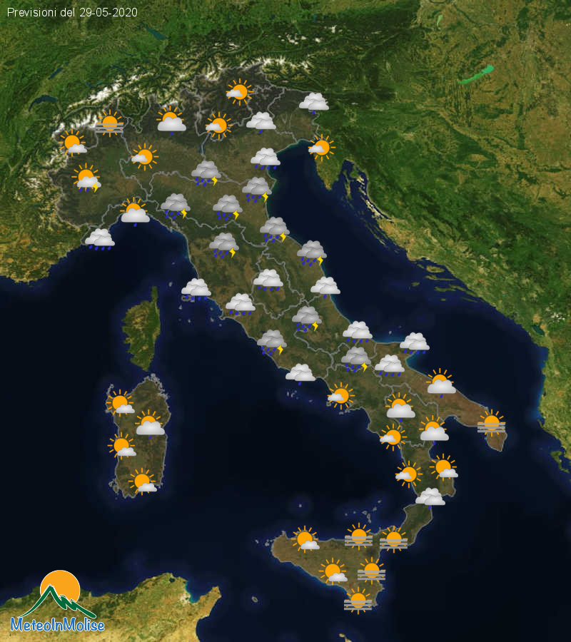 Previsioni Meteo Italia 28-05-2020