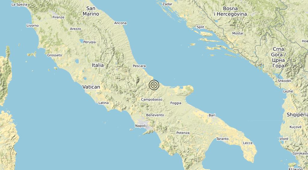Terremoto Molise 30-05-2020